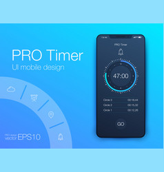 timer application ui design concept vector image