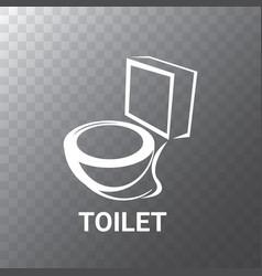 Toilet symbol sign or bowl vector
