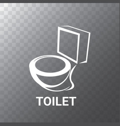 toilet symbol toilet sign or toilet bowl vector image
