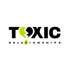 Toxic relationships logotype vector