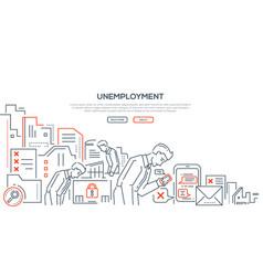 unemployment - modern line design style vector image