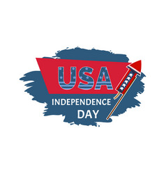 usa independence day sticker vector image