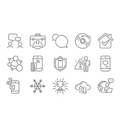 Vinyl record trophy and people chatting icons set vector