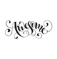 Word awesome isolated vector
