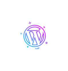 wordpress icon design vector image