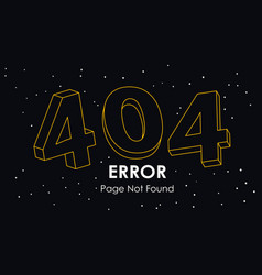 404 error page not found line vector image
