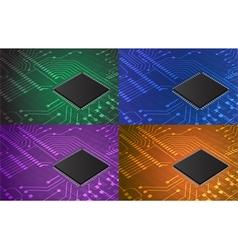 closeup of electronic circuit board vector image vector image