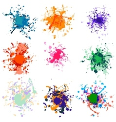 Colorful paint splashes on white plus eps10 vector