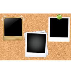 Cork Board With Photos vector image