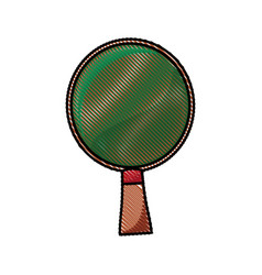 drawing racket ping pong wooden image vector image vector image