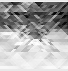 grayscale triangles abstract geometric background vector image vector image