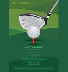 poster golf vector image