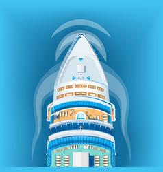 ship top view vector image vector image