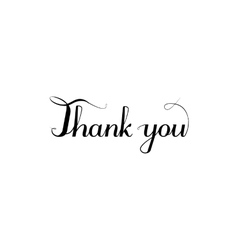 Thank you inscription calligraphy style vector image vector image
