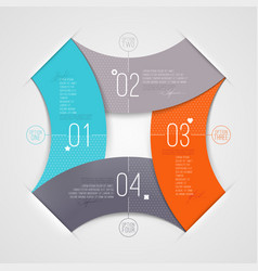 Abstract infographics with numbered elements vector image vector image