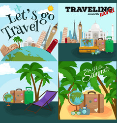 Travel concept Tourism and vector image