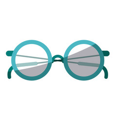 colorful silhouette of glasses icon without vector image vector image