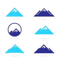 hill or mountain icons vector image vector image
