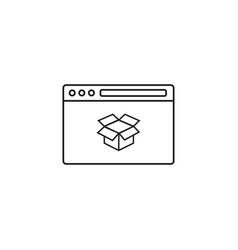 seo packages icon browser with box vector image vector image