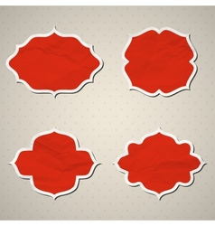 Crumpled paper frames vector image