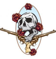 guns roses vector image