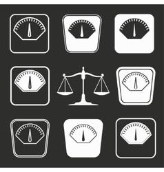 Scale icon set vector image