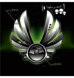 ufo speaker vector image vector image