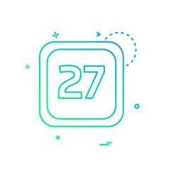 27 date calender icon design vector image