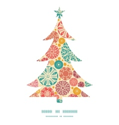 abstract decorative circles Christmas tree vector image