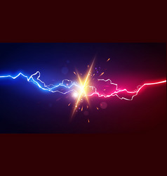 Abstract electric lightning concept for battle vector