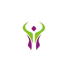 Active people swoosh logo vector