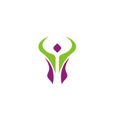 active people swoosh logo vector image