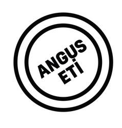 Angus beef stamp in turkish vector