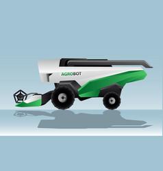Autonomous combine harvester vector