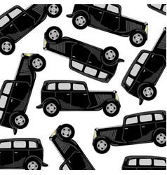 black car pattern vector image