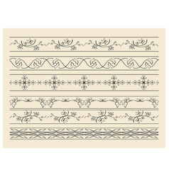 Black decorative ornaments - set vector