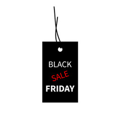 black friday sale design template banner vector image