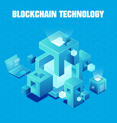 blockchain technology vector image