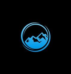 Blue abstract mountain logo vector