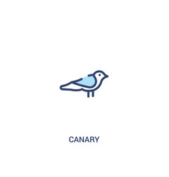 Canary concept 2 colored icon simple line element vector
