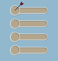 check list and dart vector image