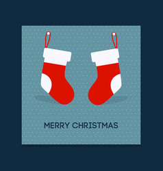 chrismtas card with socks vector image