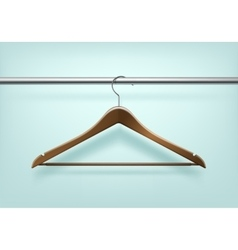 Coat Wooden Hanger Isolated on Background vector image