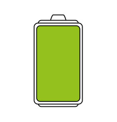 Color silhouette image cartoon battery device with vector