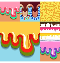 Colored seamless pattern drips vector