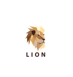 colorful lion head logo vector image