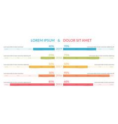 Comparison chart vector