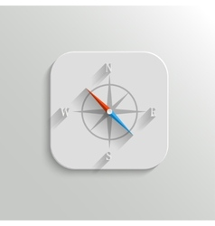 Compass icon - flat app button vector image