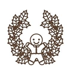 Coockie of merry Christmas design vector