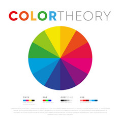 creative simple design color theory circle vector image